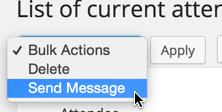 Bulk actions send